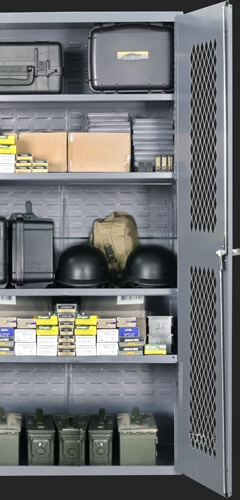 weapon and gear storage cabinet