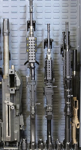 military weapon storage avoid horizontal mounts
