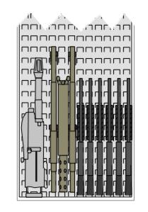 M2 MK19 Rack space