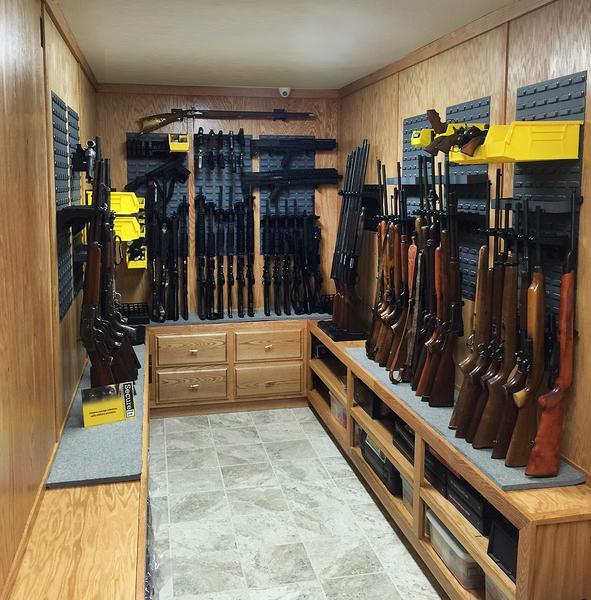 Gun Room Gun Wall Panel Large