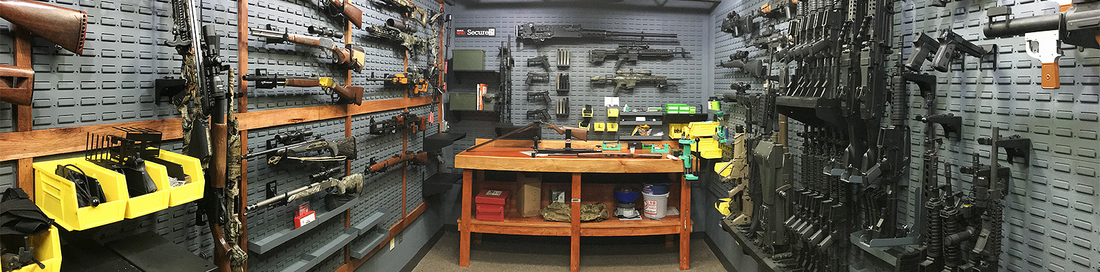 Custom home gun room