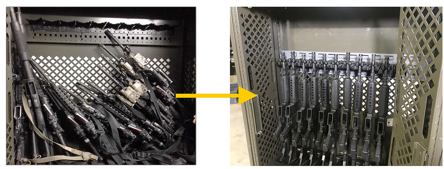 weapon storage cabinet upgrade