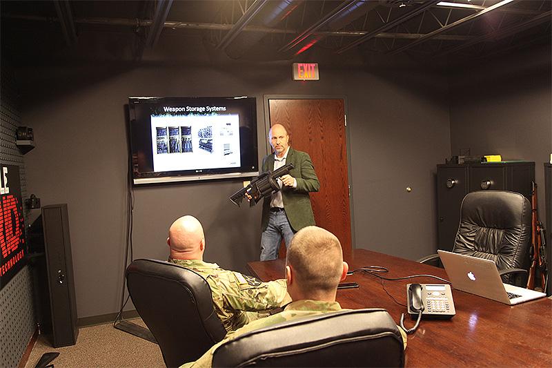 Tom Kubiniec presenting to military